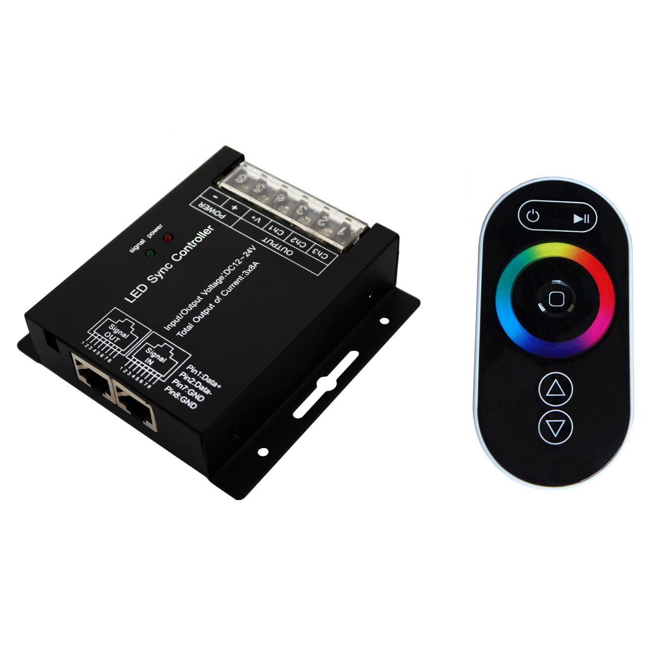PREMIUMLUX RGB kontroler pro LED pásky 12/24VDC 288W, dotykové dálkové RF ovládání